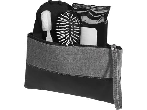 Heathered cosmetic bag