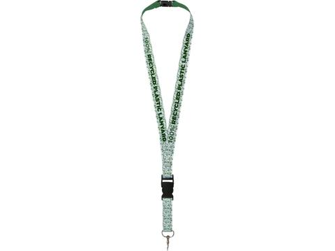 Balta recycled PET lanyard with safety buckle 10 mm