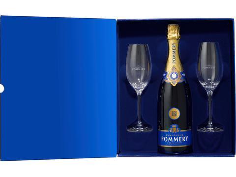 Pommery coffret 2 verres eunologique