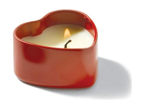 Scented candle heart