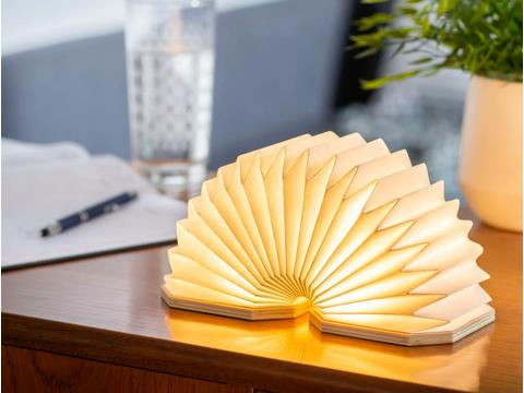 Gingko Smart Accordeon bamboe lamp