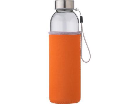 Glass bottle with neoprene sleeve - 500 ml