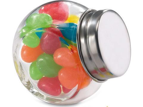 Glazen potje met snoepjes