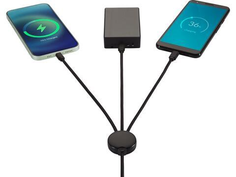 Câble de charge 5-en-1 à illumination de logo Gleam