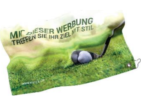 Golf handdoek full colour 30 x 50 cm