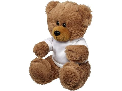 Large plush sitting bear with shirt