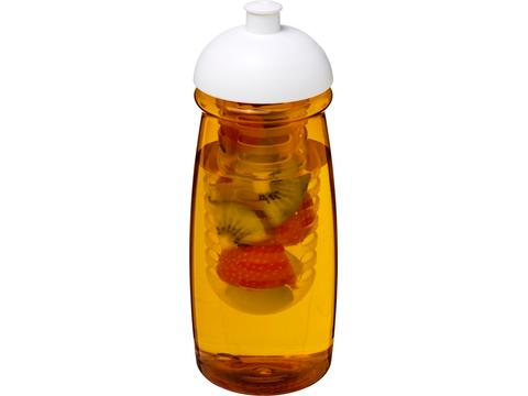 Bouteille de sport et infuseur H2O Pulse® 600 ml avec couvercle dôme