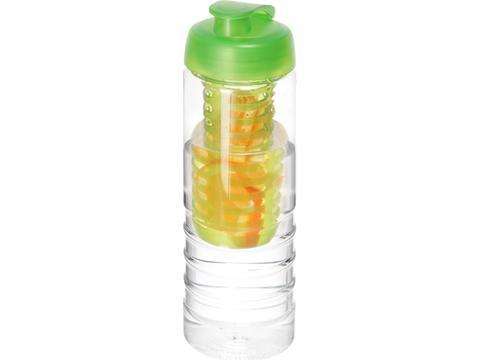 H2O Treble drinkfles met infuser en kanteldeksel - 750 ml