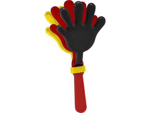 Hand clapper black red yellow