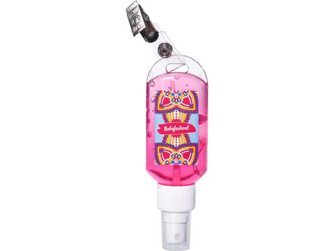 Hand cleansing gel with clip