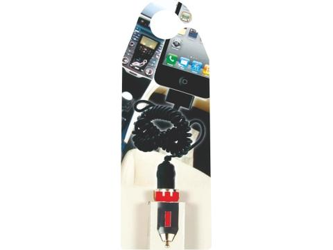Hang card with car charger