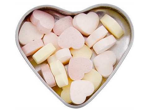 Heart tin Sweets