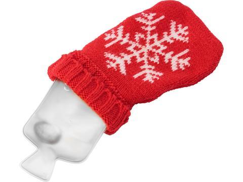 Heatpad met kerstmotief in vorm van warmwaterfles