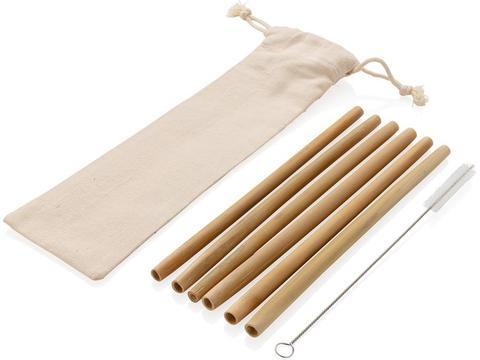 Set de pailles en fibre de bambou 6 pcs