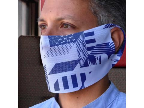 Masque facial polychrome - Réutilisable