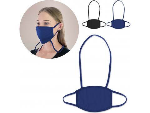 Re-usable face mask with neck strap Made in Europe