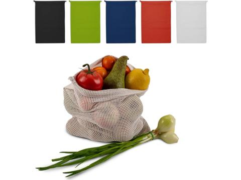 Herbruikbaar Groente & Fruit zakje Oeko-Tex katoen 30x40cm