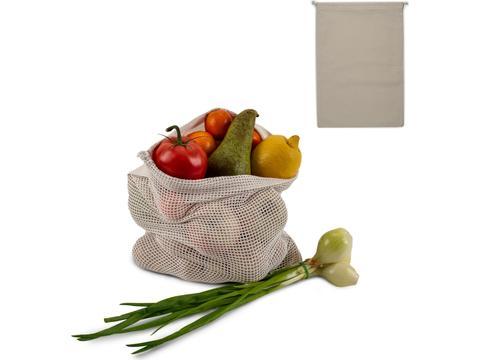 Herbruikbaar Groente & Fruit Zakje Oeko-Tex Katoen 30 x 40cm