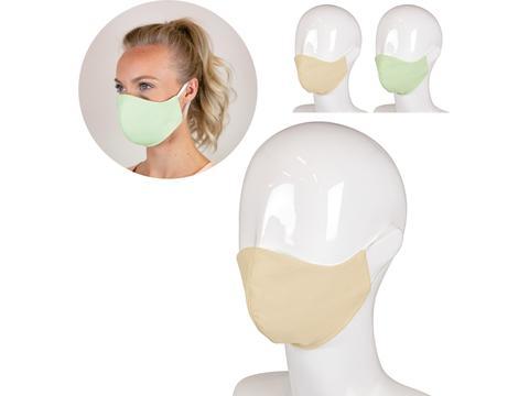 Herbruikbaar mondmasker uit medisch katoen met ruimte voor filter