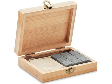 Reusable stone set in bamboo gift box