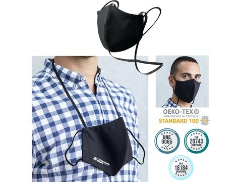 Reusable hygienic mask with neck band