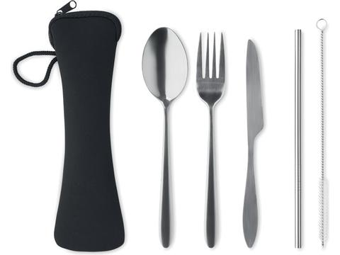 Re-usable stainless steel cutlery set