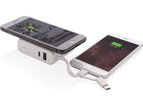 Batterie de secours 5000 mAh avec induction 5W