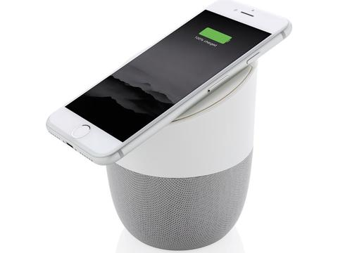 Home speaker with wireless charge