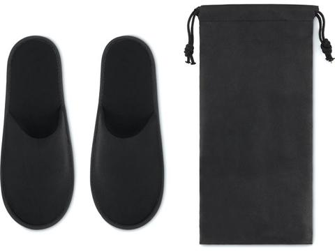 Hotel slippers in pouch