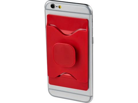 Houder voor smartphone met kaarthouder