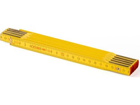 Houten duimstok vouwmeters Classic - 2 meter