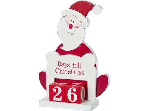 Wooden stand decoration of Santa Claus