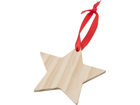 Houten kerstornament Ster