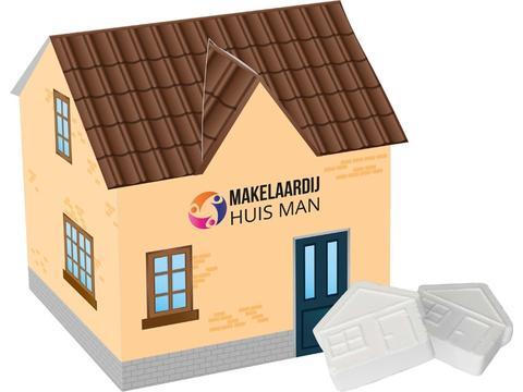 Huis met muntjes in vorm van huisje