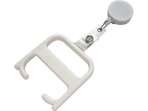 Hygiene handle with roller clip