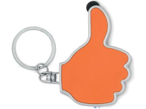 Hygiënische stylus sleutelhanger Thumbs Up