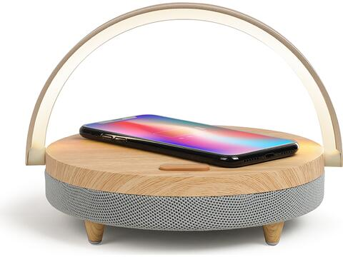 LED speaker wireless charger fast charge