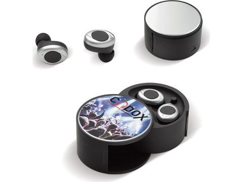 In-ear wireless earbud set