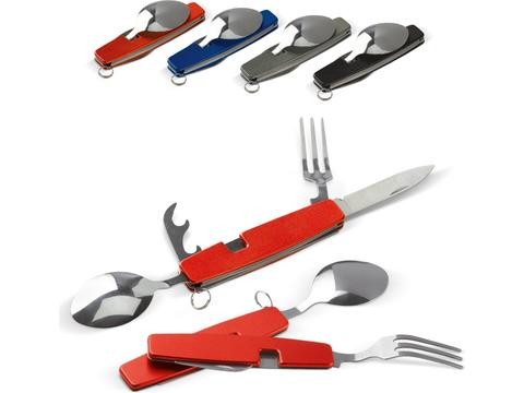 Foldable cutlery in multitool