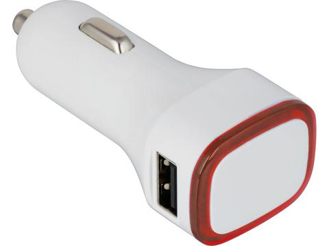 USB car charger adapter White