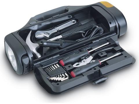 Emergency torch lamp & tool kit