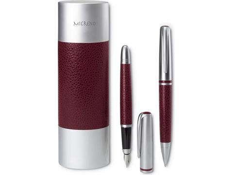 Ball pen and fountain pen set
