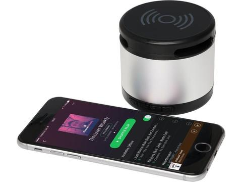 Jones metal Bluetooth® speaker with wireless charging pad