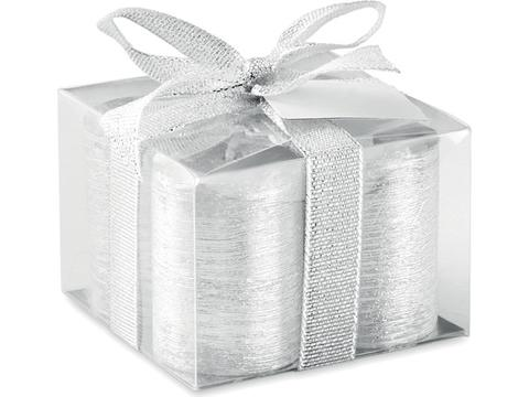 Set of 4 silver candles