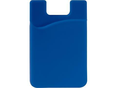 Smartphone silicone card holder