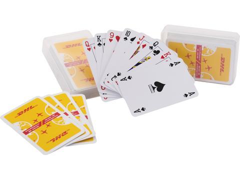 Kaartspel klassiek in transparant doosje