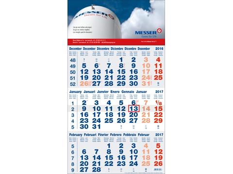 Calendriers 3 Mois Business