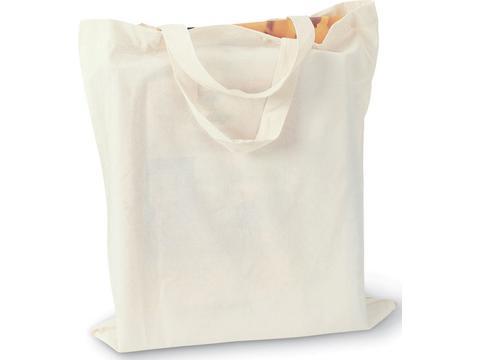 Katoenen boodschappentas met korte hengsels