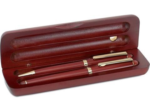 Rosewood pen set in box
