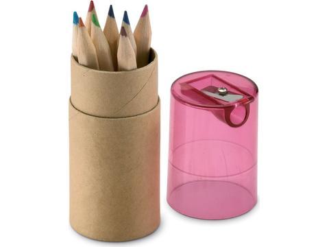 Tube crayons de couleurs